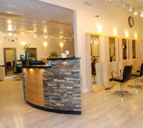 Pink Pony Tail Salon Interior